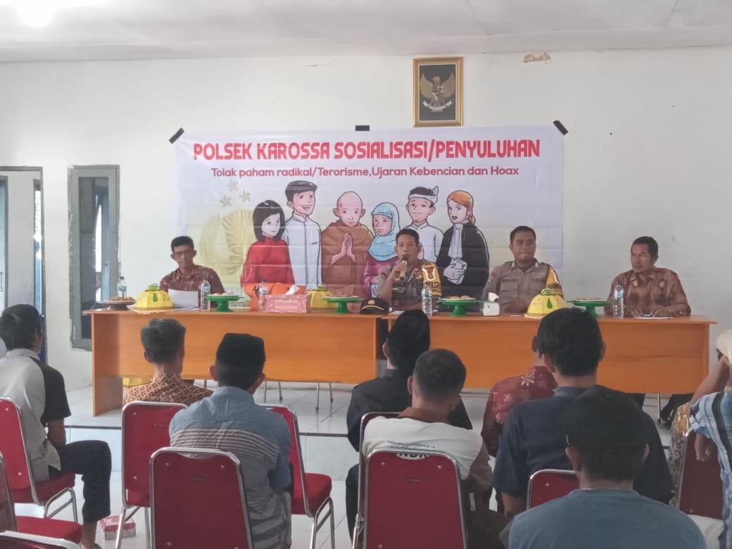 Pesan Kapolsek Karossa Terkait Bahaya Paham Radikalisme Pada Masyarakat Desa Tasokko Mamuju Tengah