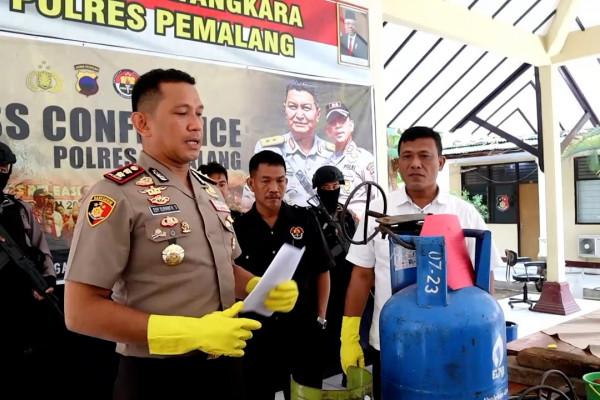 Polres Pemalang bongkar praktik pengoplos LPG bersubsidi