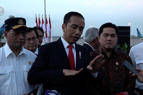 Presiden Jokowi resmikan Runway Taxi 3 Bandara Soetta