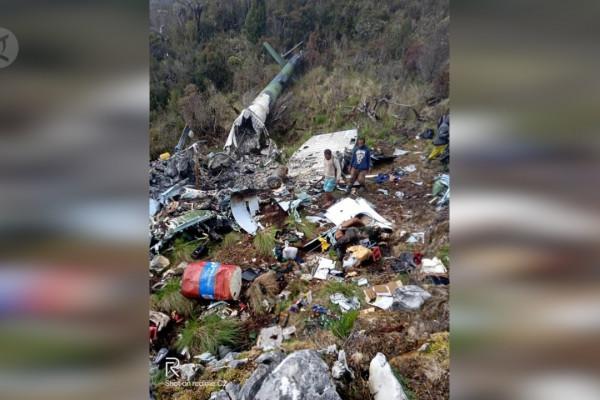 Tim Gabungan temukan Heli MI-17 jatuh di Distrik Oskop Pegunungan Bintang