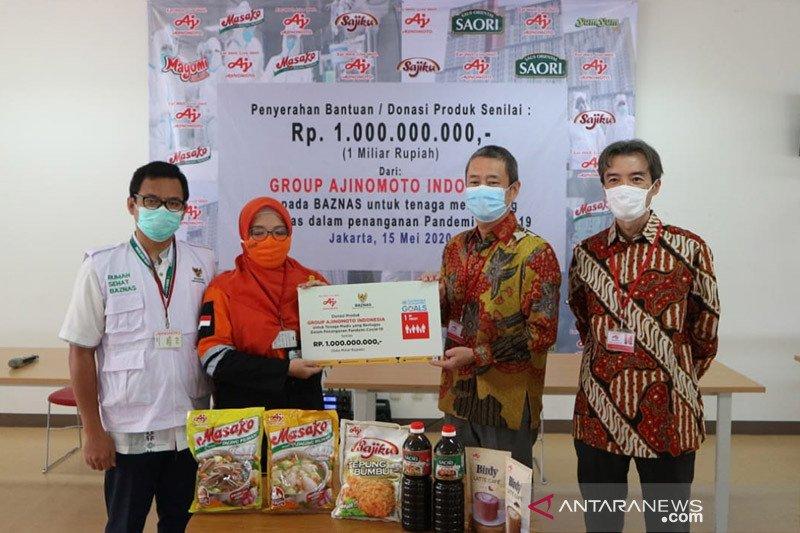 Ajinomoto salurkan donasi kepada tenaga medis lewat BAZNAS