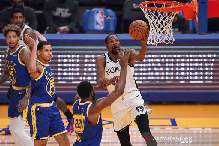 NBA: Nets curi kemenangan di kandang Warriors 134-117