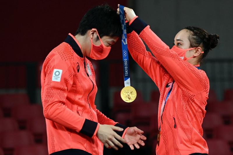 Runtuhkan dominasi China, Jepang rebut emas ganda campuran tenis meja