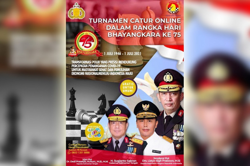 Turnamen catur daring nasional meriahkan HUT Bhayangkara ke-75